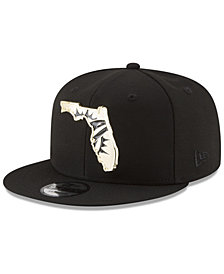 New Era Miami Dolphins Gold Stated 9FIFTY Snapback Cap