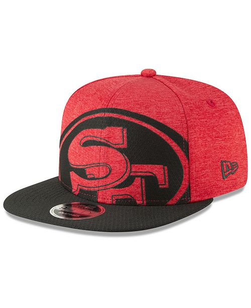 e4b9082c562 ... New Era San Francisco 49ers Oversized Laser Cut 9FIFTY Snapback Cap ...