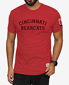 Retro Brand Men's Cincinnati Bearcats Stacked Wordmark T-Shirt