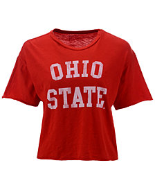 Retro Brand Women's Ohio State Buckeyes Cropped T-Shirt