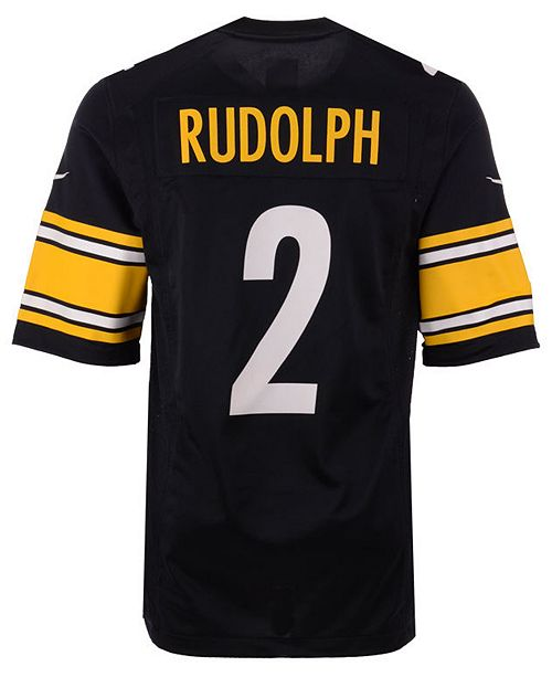 buy online 1d781 00dd9 Men's Mason Rudolph Pittsburgh Steelers Game Jersey
