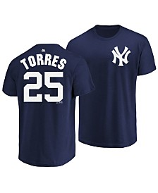 Majestic Men's Gleyber Torres New York Yankees Official Player T-Shirt