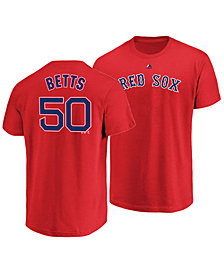 Majestic Men's Mookie Betts Boston Red Sox Official Player T-Shirt