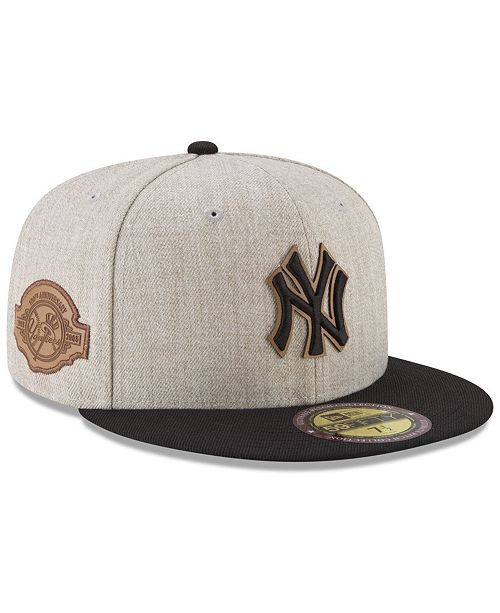 49fd2ca8877 ... New Era New York Yankees Leather Ultimate Patch Collection 59FIFTY  FITTED Cap ...