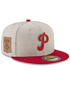 New Era Philadelphia Phillies Leather Ultimate Patch Collection 59FIFTY FITTED Cap