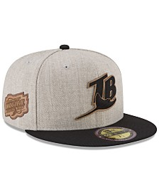 New Era Tampa Bay Rays Leather Ultimate Patch Collection 59FIFTY FITTED Cap