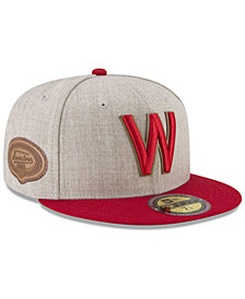 New Era Washington Senators Leather Ultimate Patch Collection 59FIFTY FITTED Cap