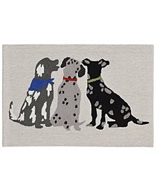 Liora Manne Front Porch Indoor/Outdoor Three Dogs Multi Area Rugs
