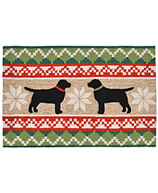 "Liora Manne Front Porch Indoor/Outdoor Nordic Dogs Neutral 2'6"" x 4' Area Rug"