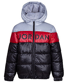 Jordan Big Boys Colorblocked Puffer Jacket