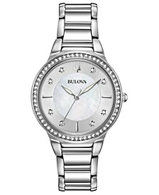Women's Crystal Stainless Steel Bracelet Watch 32mm