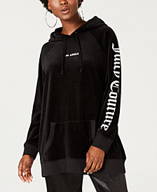 Juicy Couture Oversized Boyfriend Velour Hoodie