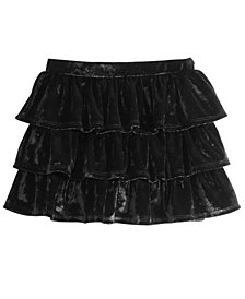 Epic Threads Little Girls Tiered Velvet Skirt, Created for Macy's