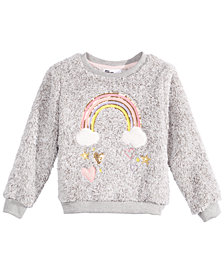 Epic Threads Toddler Girls Faux-Fur Rainbow Sweatshirt, Created for Macy's