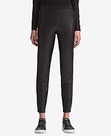 DKNY Mixed-Media Skinny Pants, Created for Macy's