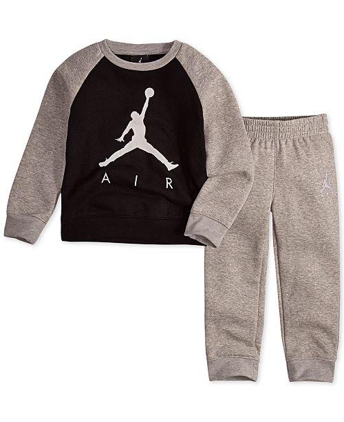 59aa66bb8239f8 Jordan Toddler Boys 2-Pc. Air-Print Top   Pants Set   Reviews - Sets ...