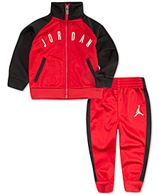 Jordan Little Boys 2-Pc. Tricot Colorblocked Jacket & Pants Set