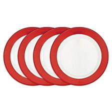 Bistro Red Melamine 4-Pc. Dinner Plate Set