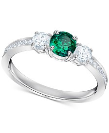 Swarovski Silver-Tone Crystal Ring