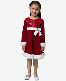 Bonnie Jean Toddler Girls Santa Dress