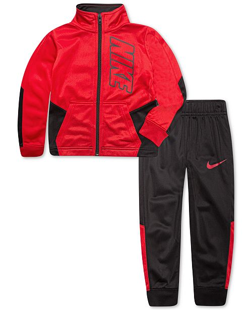 c4f30cf3356 Nike Little Boys 2-Pc. Colorblocked Tricot Track Suit Set   Reviews ...