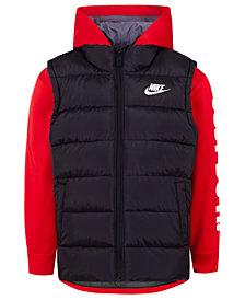 Nike Little Boys Therma-FIT Quilted 2-in-1 Jacket