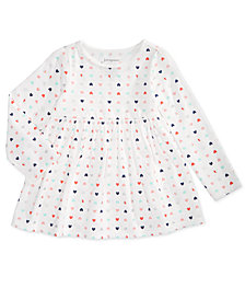 First Impressions Baby Girls Colorful Heart-Print Cotton Tunic, Created for Macy's
