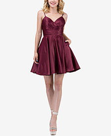 Dancing Queen Juniors' Sweetheart Neckline Fit & Flare Dress