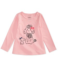 First Impressions Baby Girls Poodles-Print Cotton T-Shirt, Created for Macy's