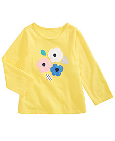 First Impressions Baby Girls Flowers-Print Cotton T-Shirt, Created for Macy's