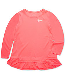 Nike Little Girls Dri-FIT Peplum Top