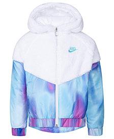Nike Toddler Girls Hooded Sherpa Windrunner Jacket