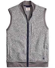 Brooks Brothers Men's Red Fleece Full-Zip Vest