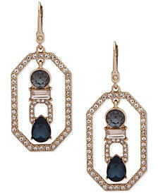 Ivanka Trump Gold-Tone Crystal Openwork Drop Earrings