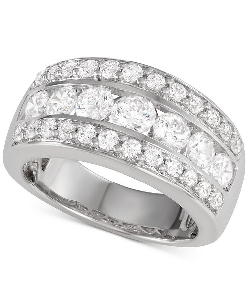 Macy's Star Signature Diamond Band (2 ct. t.w.) in 14k White Gold