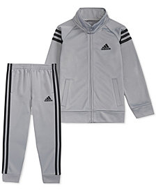 adidas Little Boys 2-Pc. Front-Zip Jacket & Jogger Pants Set