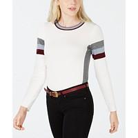Hippie Rose Juniors' Crew-Neck Colorblocked Sweater