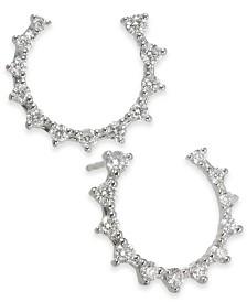 Diamond Front & Back Hoop Earrings (3/4 ct. t.w.) in 14k White Gold