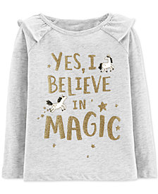 Carter's Baby Girls Believe in Magic Graphic Cotton T-Shirt