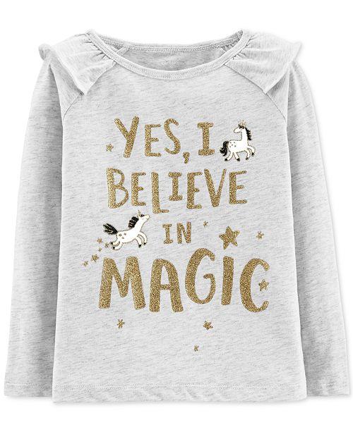 5b8408db Carter's Baby Girls Believe in Magic Graphic Cotton T-Shirt - Shirts ...