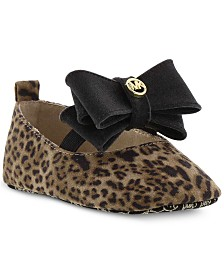 Michael Kors Baby Girls Animal-Print Slip-On Shoes