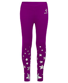 Converse Big Girls Dri-Fit Star-Print Leggings