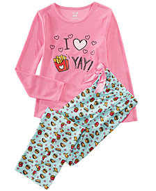 Max & Olivia Little & Big Girls 2-Pc. Fri-Yay Graphic Pajama Set
