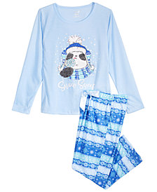 Max & Olivia Big Girls 2-Pc. Snow Sweet Pajama Set, Created for Macy's