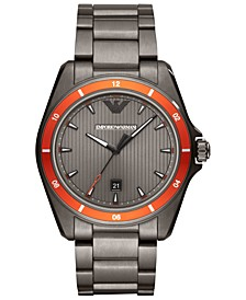 Men's Gunmetal Stainless Steel Bracelet Watch 44mm