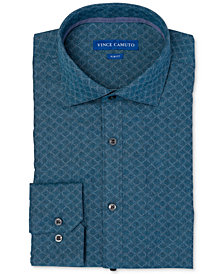 Vince Camuto Men's Slim-Fit Comfort Stretch Jaquard Dress Shirt