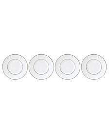 Continental Dining Platinum Tidbit Plates Set of 4