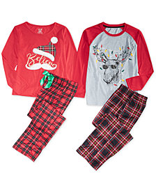 Max & Olivia Big Boys & Big Girls Pajama Separates