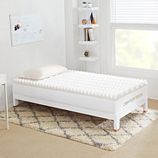 "Sleep Studio CopperFresh Wave 4"" DORM Foam Mattress Topper Collection"