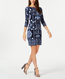 Charter Club Petite Reversible Printed Dress, Created for Macy's